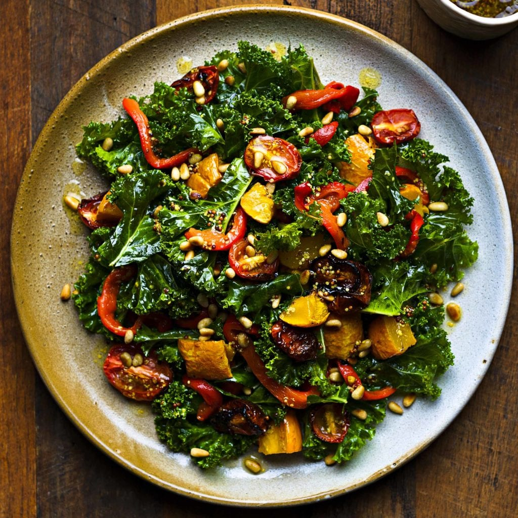 the healthy gut blog to make tonight: warm winter kale salad recipe