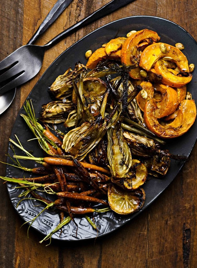 Rebecca Coomes The healthy gut blog trio of Roast Vegetables