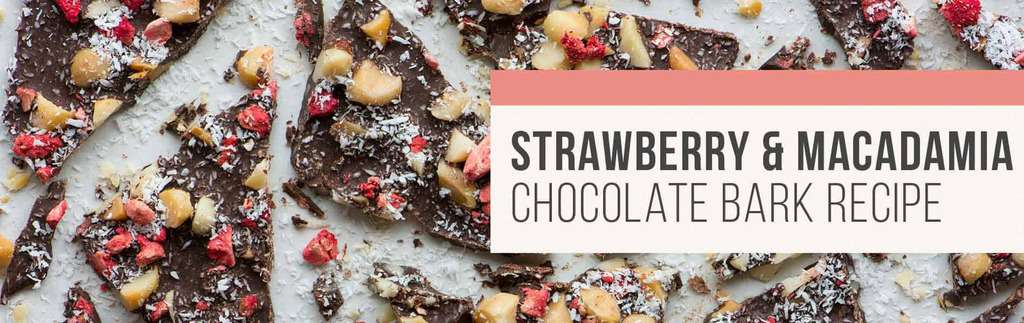 Strawberry and macadamia chocolate bark recipe