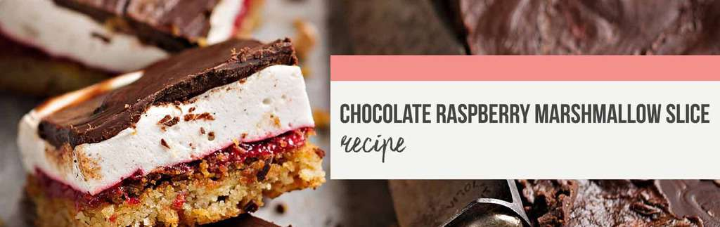 Chocolate raspberry marshmallow slice recipe