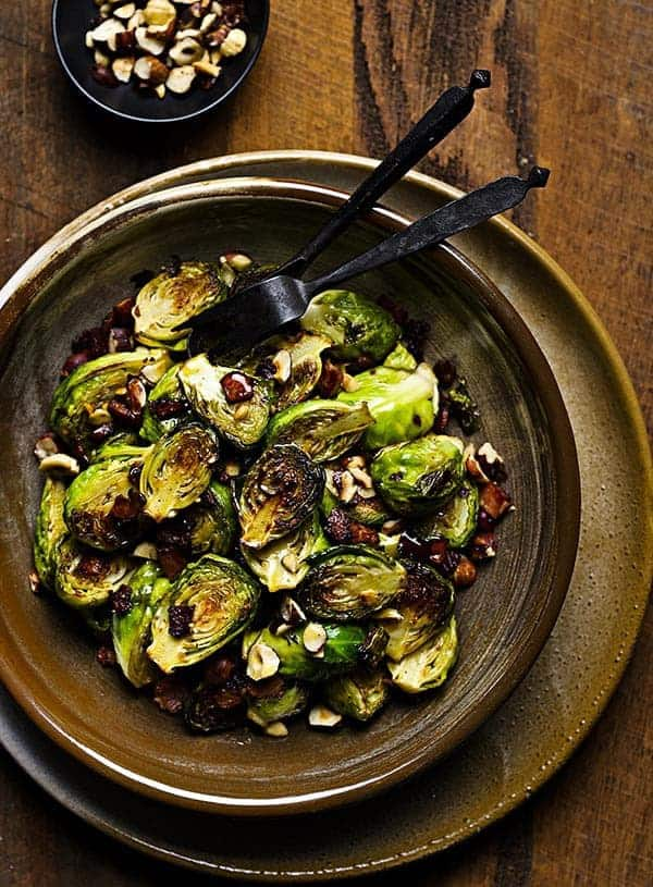SIBO buttery pan-fried bacon brussels sprouts