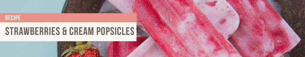 SIBO friendly strawberries and cream popsicles recipe