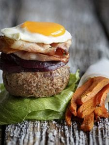 Aussie Burger With Carrot Fries