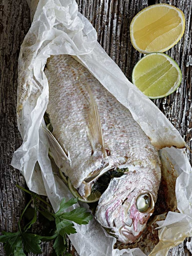 Lemon And Lime Bbq Snapper