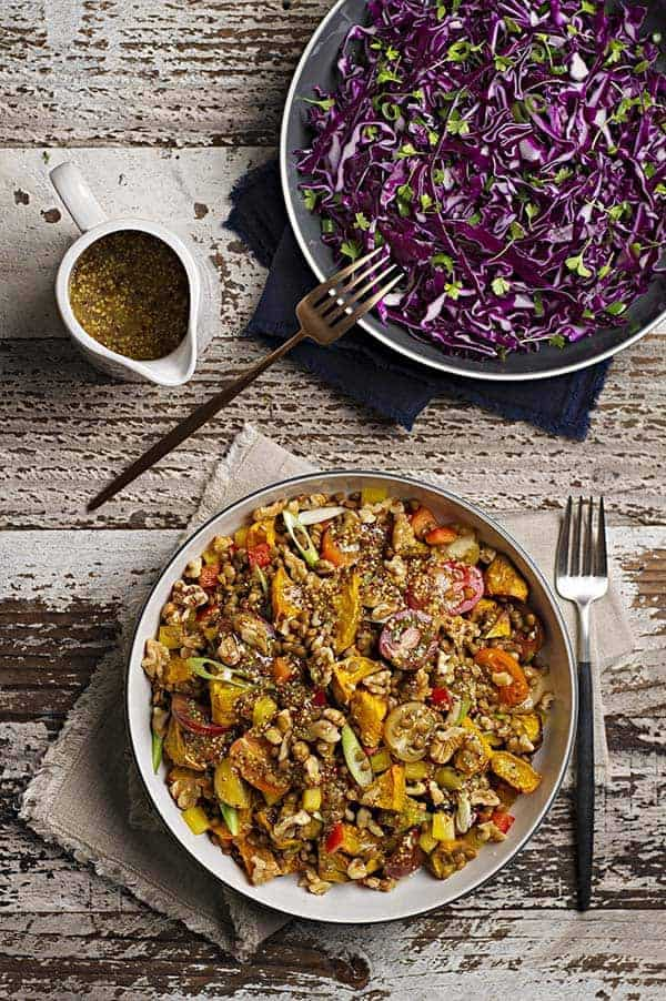 Lentil Salad Red Cabbage Slaw Web