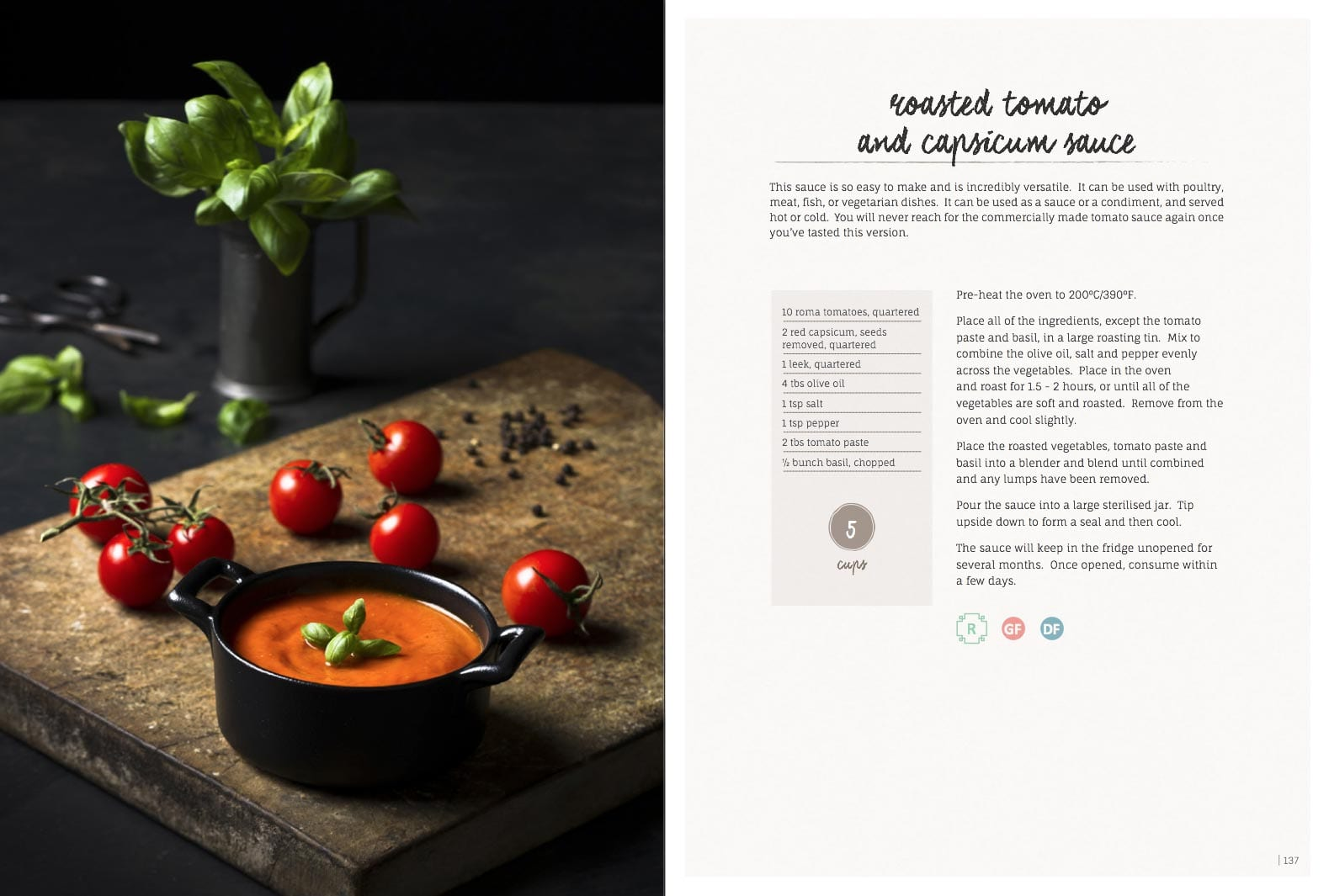 Roasted Tomato And Capsicum Sauce