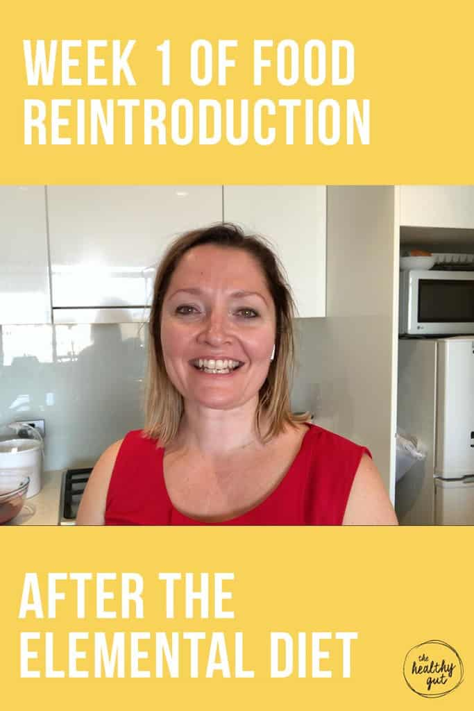 Week 1 Food Reintroduction Review Post Elemental Diet. It's been a week since Rebecca Coomes completed the Elemental Diet.  She shares her first week of food reintroduction and how she got her gut working again.