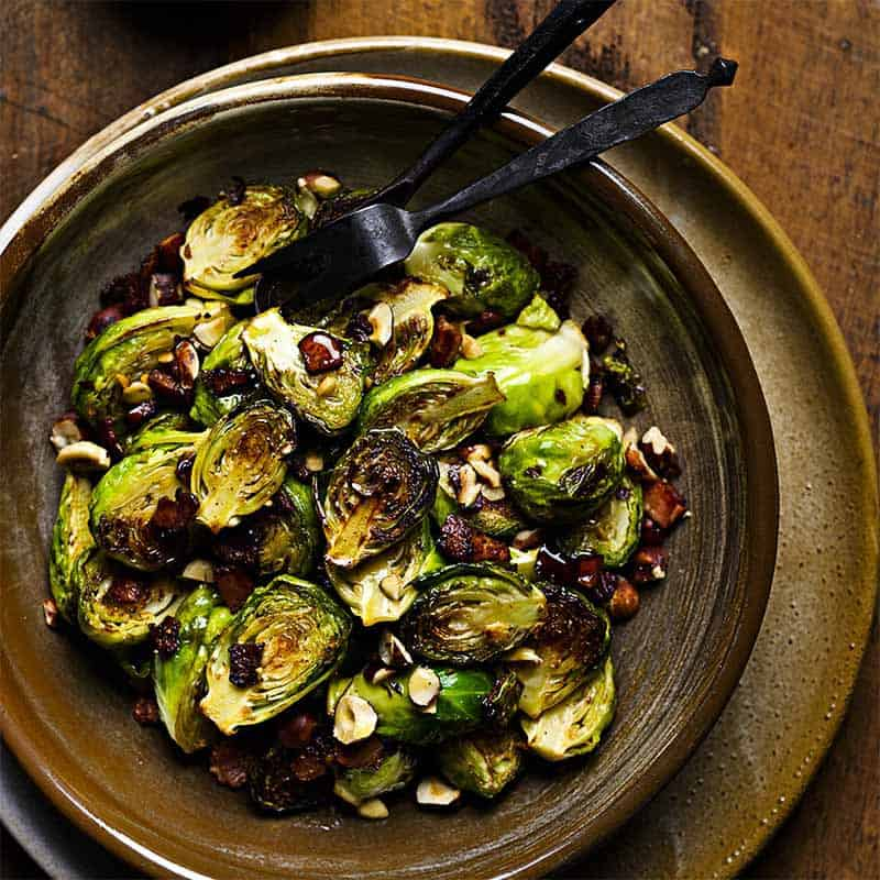 Buttery Bacon Brussel Sprouts Recipe 800x800