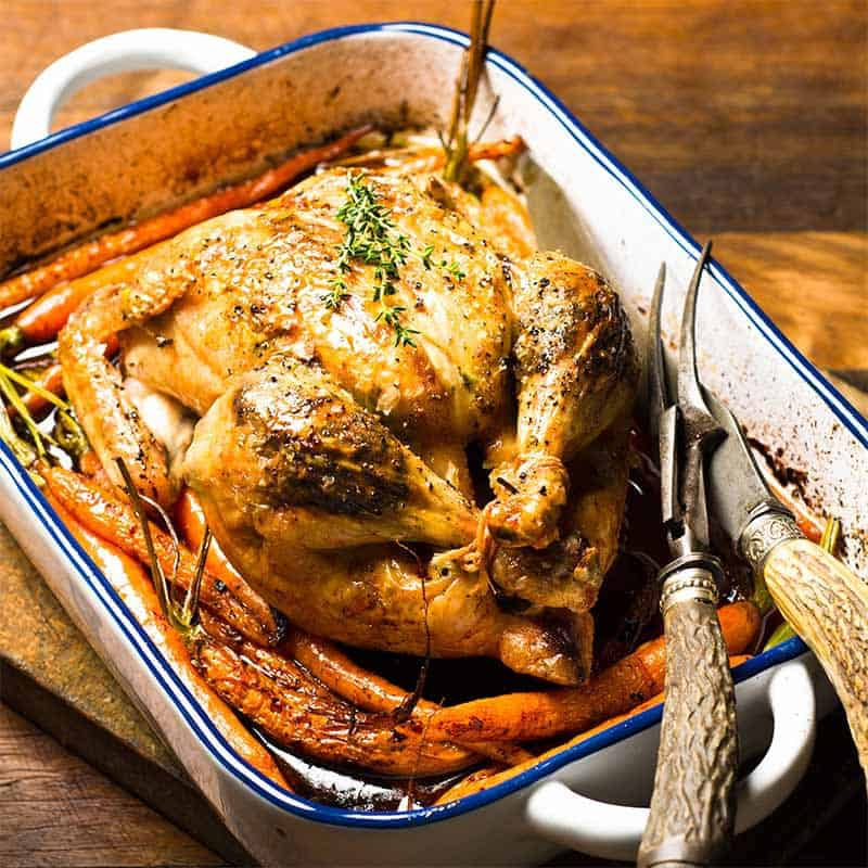 Lemon & Thyme Roast Chicken Recipe 800x800