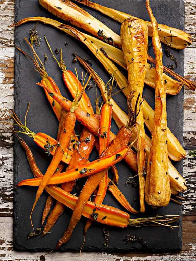 Thyme Roasted Carrots And Parsnips Recipe 786x1048