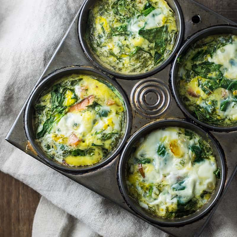Low Fodmap Smoked Salmon Frittata Cups 800x800