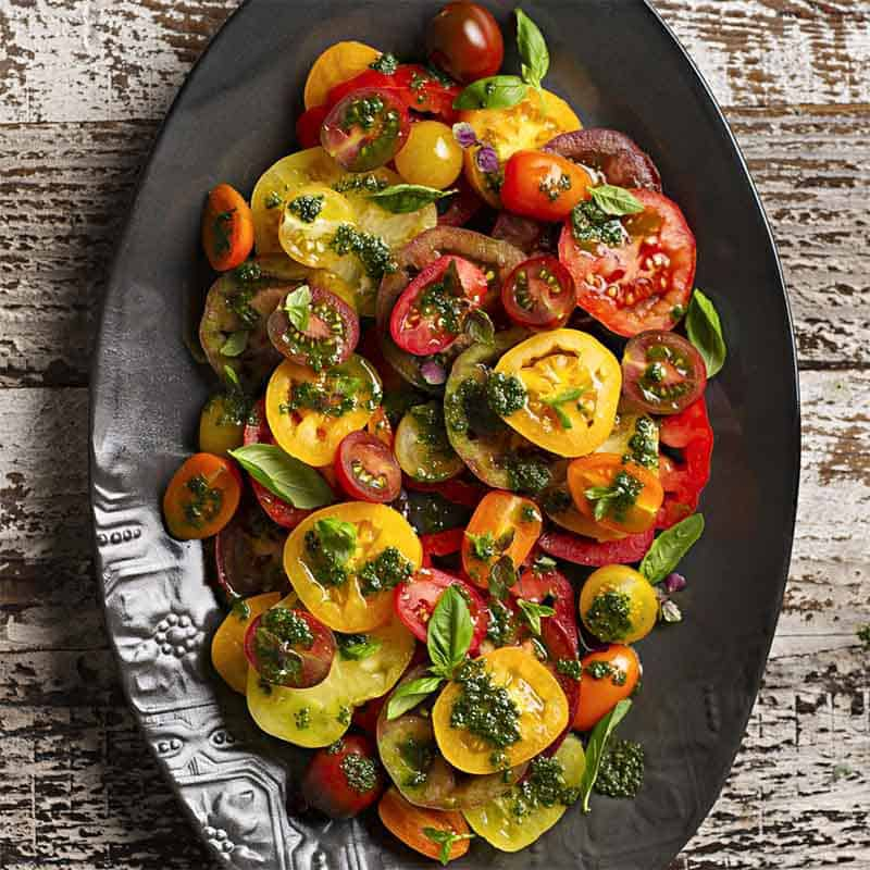 Tomato Salad With Basil Dressing Recipe 800x800