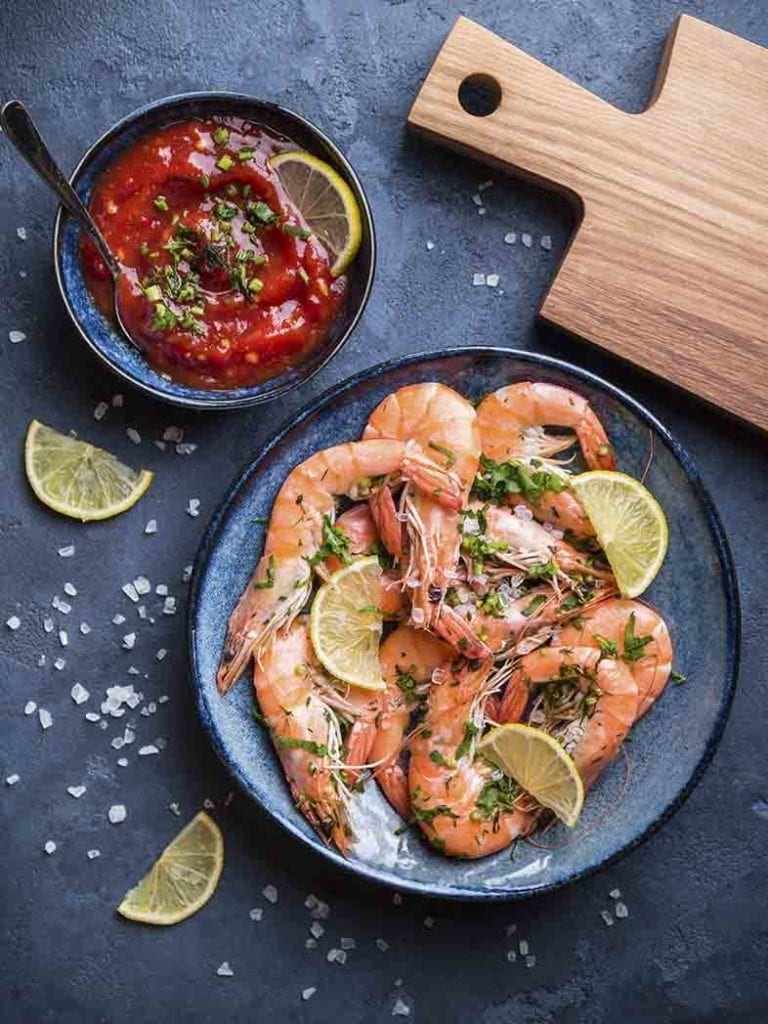 King Prawns With Spicy Salsa Recipe 786x1048