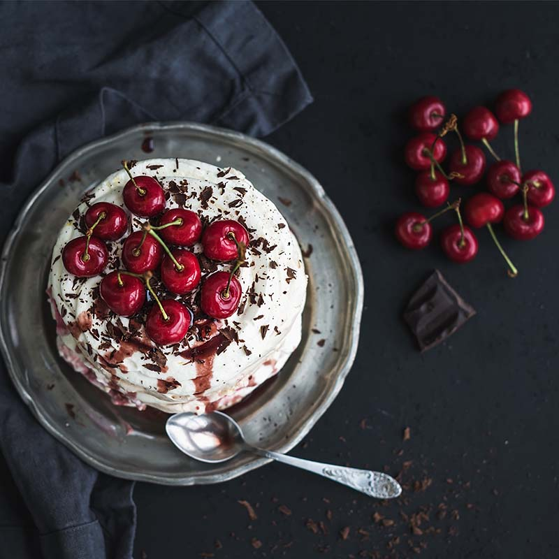 Choc Chip Cherry Pavlova Recipe 800x800
