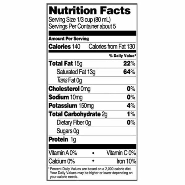 Native Forest Unsweetened Coconut Milk Nutritional Information