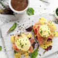 Smoked Salmon Eggs Benedict Zucchini Pancake Recipe 786x1048
