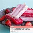 Rebecca Coomes The Healthy Gut Strawberries Cream Popsicles Blog