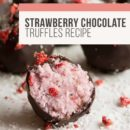 Rebecca Coomes The Healthy Gut Strawberry Chocolate Truffles Blog